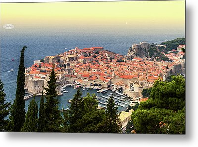 Dubrovnik Old City On The Adriatic Sea, South Dalmatia Region, C Metal Print