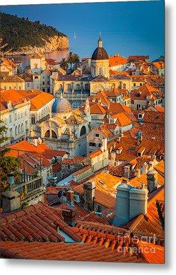 Dubrovnik Sunset Metal Print by Inge Johnsson