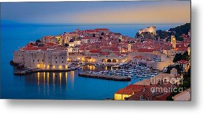 Dubrovnik Twilight Panorama Metal Print by Inge Johnsson