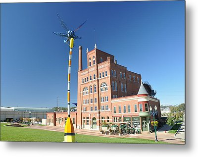 Dubuque Star Brewery With Fly Metal Print