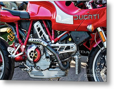 Metal Print featuring the photograph Ducati Mh900 Evoluzione by Tim Gainey