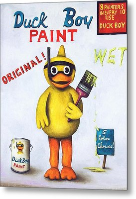 Duck Boy Paint Metal Print by Leah Saulnier The Painting Maniac