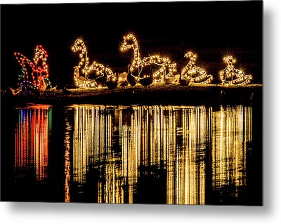Duck Pond Christmas Metal Print
