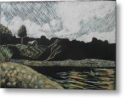 Duck Trap Tidal Cove Metal Print by Grace Keown