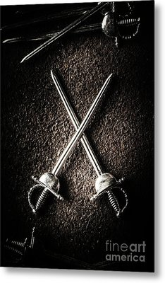 Duel To The Death Metal Print