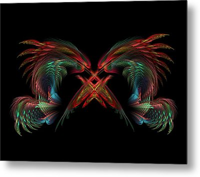 Dueling Dragons Metal Print by Lyle Hatch