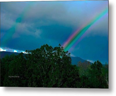 Dueling Rainbows Metal Print by DigiArt Diaries by Vicky B Fuller