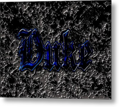 Duke Blue Devils 1d Metal Print by Brian Reaves