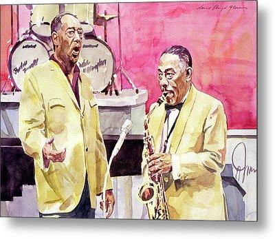 Duke Ellington And Johnny Hodges Metal Print by David Lloyd Glover