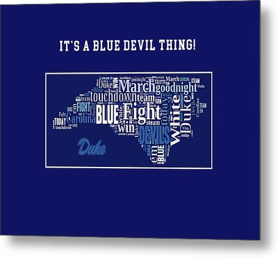 Duke University Fight Song Products Metal Print
