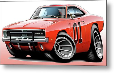 Dukes Of Hazzard General Lee Metal Print by Maddmax