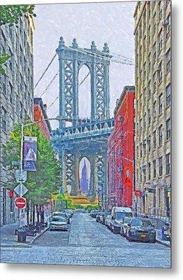 Dumbo -  Down Under The Manhattan Bridge Overpass Metal Print