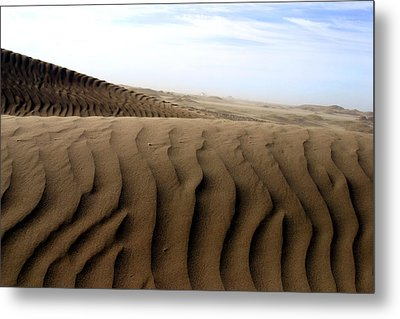 Dunes Of Alaska Metal Print by Anthony Jones