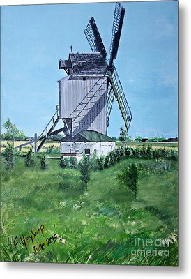 Dunkerque Windmill North Of France Metal Print