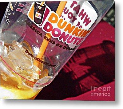 Dunkin Ice Coffee 29 Metal Print by Sarah Loft