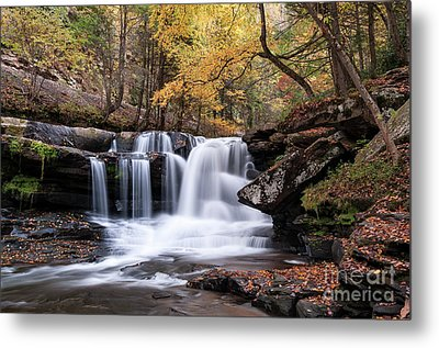 Metal Print featuring the photograph Dunloup Falls - D009961 by Daniel Dempster