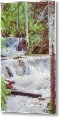 Dunn River Falls Metal Print by Jeff Kolker