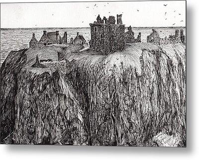 Dunottar Castle Metal Print