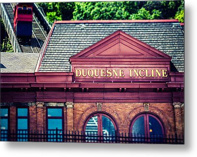 Duquesne Incline Of Pittsburgh Metal Print by Lisa Russo