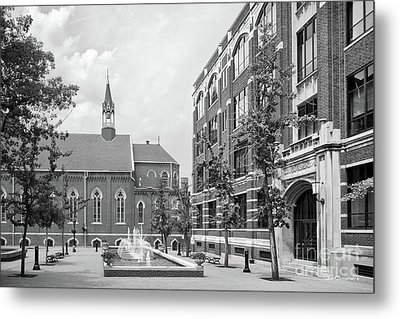 Duquesne University Chapel And Canevin Hall Metal Print