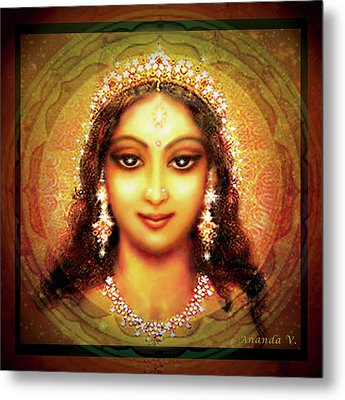 Durga In The Sri Yantra Metal Print