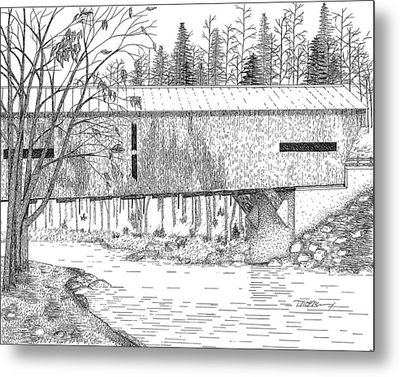 Durgin Bridge Metal Print