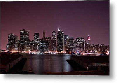 Dusk At Brooklyn Port Metal Print