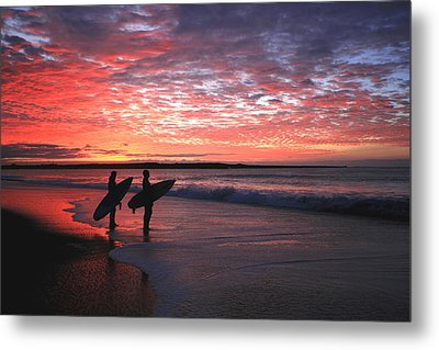 Dusk At Halfmoon Bay Metal Print by Mike Coverdale