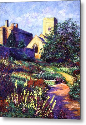 Dusk At The Abbey Metal Print by David Lloyd Glover