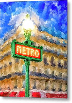 Dusk Done Parisian Style Metal Print by Mark Tisdale