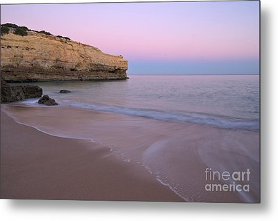 Dusk In Albandeira Beach Metal Print