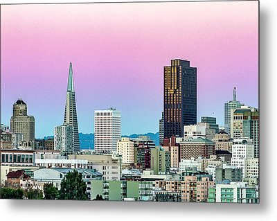 Metal Print featuring the photograph Dusk In San Francisco by Bill Gallagher