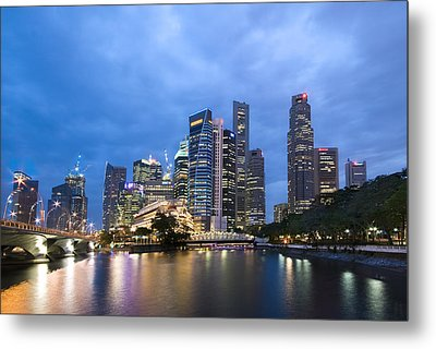 Dusk In The City Metal Print by Ng Hock How