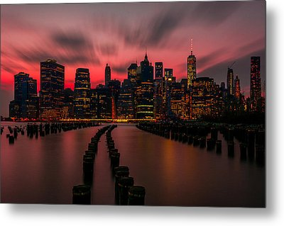 Dusk Manhattan Metal Print