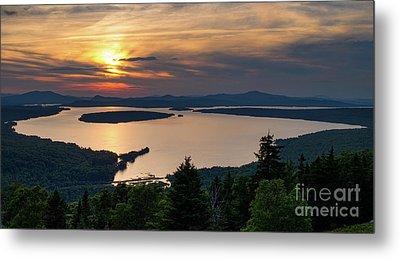 Metal Print featuring the photograph Dusk, Mooselookmeguntic Lake, Rangeley, Maine -63362-63364 by John Bald