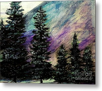 Dusk On Purple Mountain Metal Print