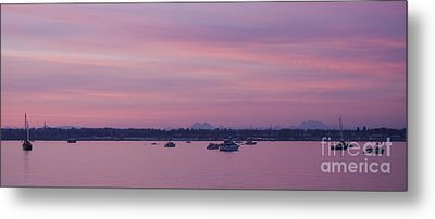 Dusk On The Bay Metal Print by Idaho Scenic Images Linda Lantzy
