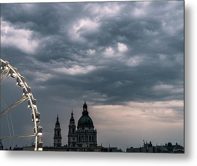 Metal Print featuring the photograph Dusk Over Budapest by Alex Lapidus