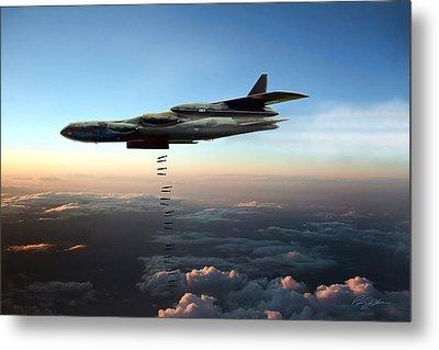 Dusk Strike B-52d Metal Print by Peter Chilelli