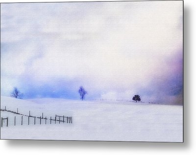 Dusky Snow Metal Print by Kathy Jennings