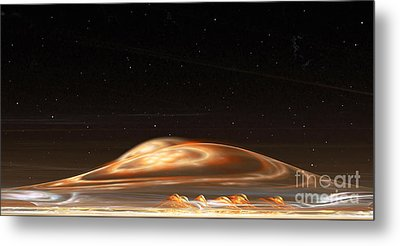 Metal Print featuring the digital art Dust Storm On The Red Planet by Richard Ortolano