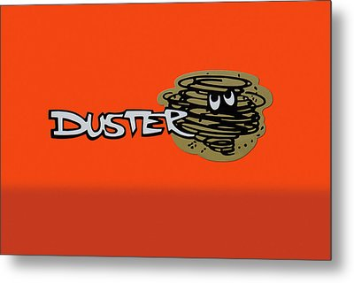 Metal Print featuring the photograph Duster Emblem by Mike McGlothlen