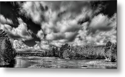 Metal Print featuring the photograph Dusting Of Snow On The River by David Patterson