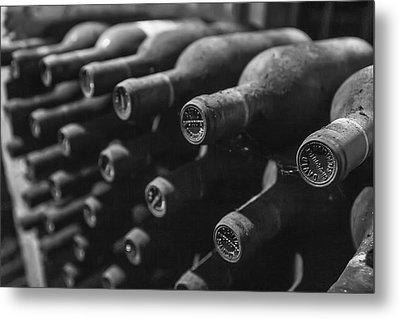 Dusty Wine Bottles Metal Print