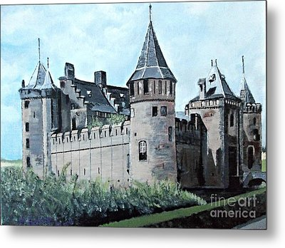Dutch Castle In Muiden Metal Print