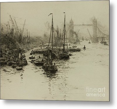 Dutch Eel Boats In The Pool Of London Metal Print by MotionAge Designs