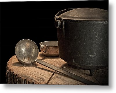 Dutch Oven And Ladle Metal Print by Tom Mc Nemar