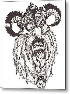 Dwarf Berserker Metal Print by Law Stinson