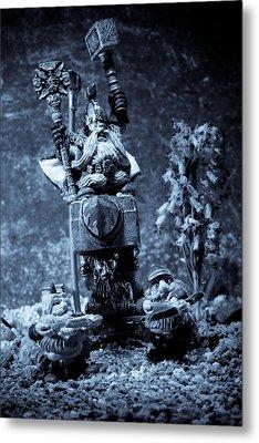 Dwarven Holy Anvil Metal Print by Marc Garrido