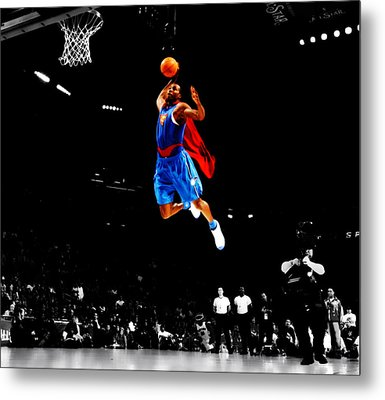 Dwight Howard Superman Dunk Metal Print by Brian Reaves